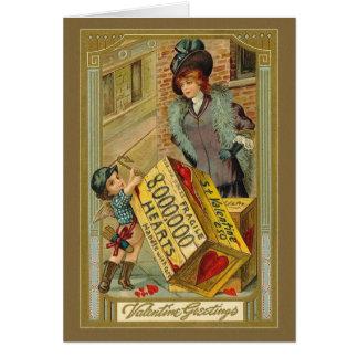 Viktorianische Gruß-Karte des Valentines Tages Grußkarte