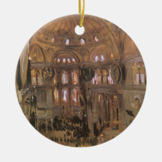Viktorianische Kunst, Skizze von Sankt Sophia Rundes Keramik Ornament