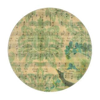Viktorianische Musik-Blatt-Tapete Schneidebrett