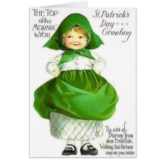 Viktorianische Spitze des Mornin St Patrick Karte