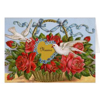 Viktorianische Valentine-Karte - personifizieren Karte