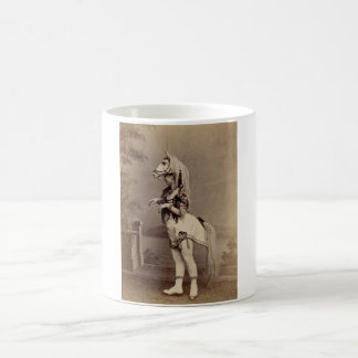 Viktorianischer Pferdekostüm-Daguerreotype/Foto Tasse