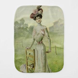 Viktorianisches Dame-Vintages französisches Spucktuch