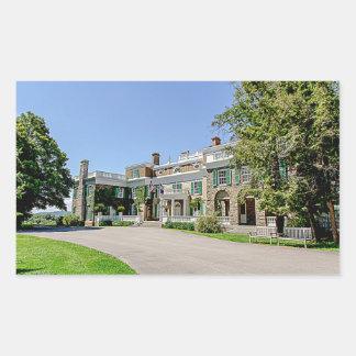Villa Präsidenten- (FDR)Franklin D. Roosevelt Rechteckiger Aufkleber