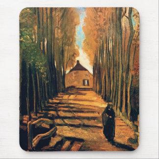Vincent van Gogh - Allee der Pappeln im Herbst Mousepads