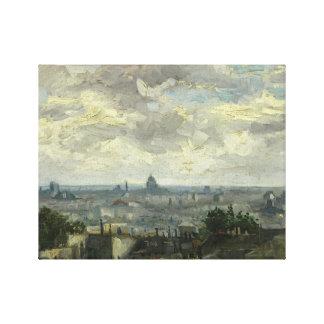 Vincent van Gogh - Ansicht von Paris Leinwanddruck