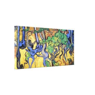 Vincent van Gogh - Baum-Wurzel-und Stamm-schöne Leinwanddruck