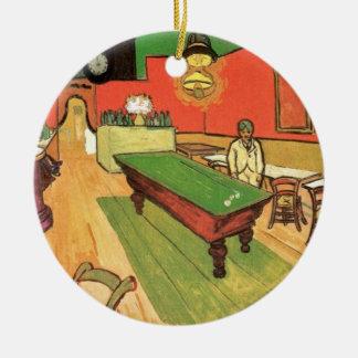 Vincent van Gogh - das Nachtcafé in Arles Keramik Ornament