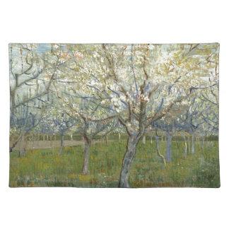 Vincent van Gogh der rosa Obstgarten - Stofftischset