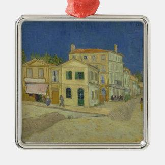 Vincent van Gogh die gelbe Haus-Malerei Silbernes Ornament