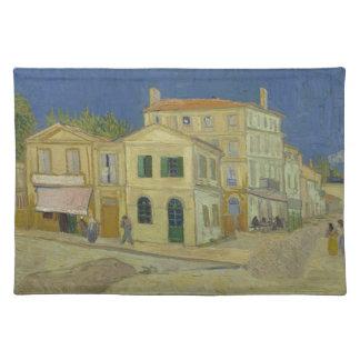 Vincent van Gogh die gelbe Haus-Malerei Tischset