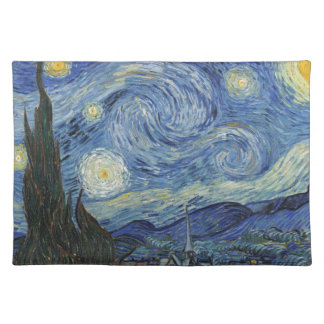 Vincent van Gogh | die sternenklare Nacht, im Juni Stofftischset