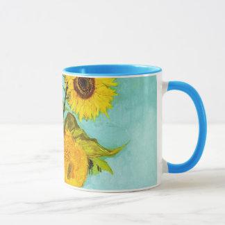 Vincent van Gogh drei Sonnenblumen in einem Vase Tasse
