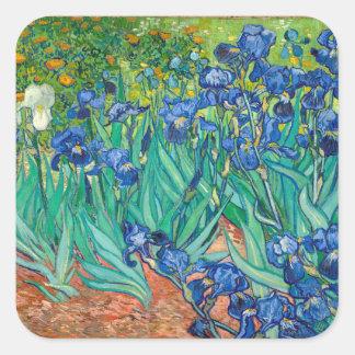 VINCENT VAN GOGH - Iris 1889 Quadratischer Aufkleber