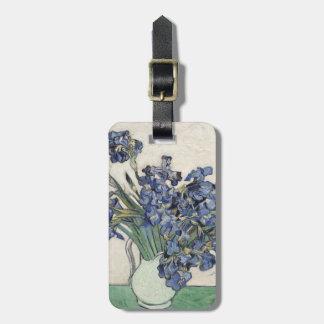 Vincent van Gogh Irises GalleryHD schöne Kunst Gepäckanhänger