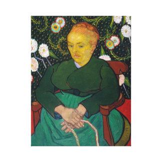 Vincent van Gogh-La Berceuse Frau Leinwanddruck