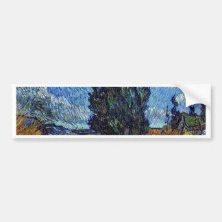 Vincent van Gogh-Landstraße in Provence bis zum Autoaufkleber