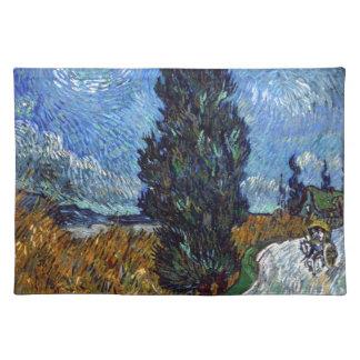 Vincent van Gogh-Landstraße in Provence bis zum Tischset