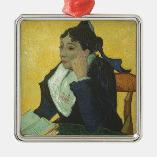 Vincent van Gogh - Madame Ginoux mit Büchern Silbernes Ornament