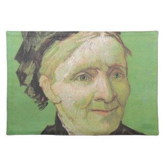Vincent van Gogh-Porträt die Mutter-der Kunst des Stofftischset