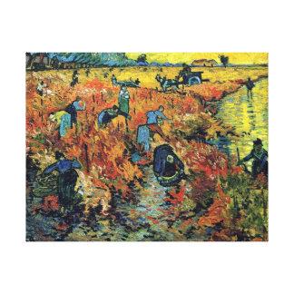 Vincent van Gogh - roter Weinberg an Arles Malerei Leinwand Druck
