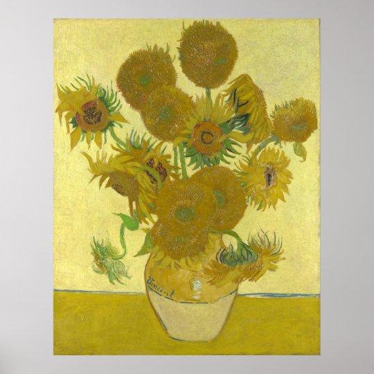 Vincent Van Gogh Sonnenblumen 1888 Kunstdruck Poster Zazzleat