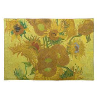 Vincent van Gogh-Sonnenblumen - klassische Kunst Stofftischset