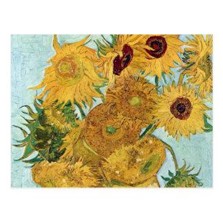 Vincent van Gogh-Sonnenblumen Postkarte