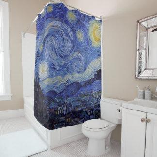 Vincent van Gogh Starry NachtVintage feine Kunst Duschvorhang