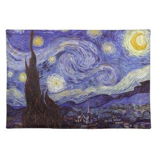 Vincent van Gogh Starry NachtVintage feine Kunst Stofftischset