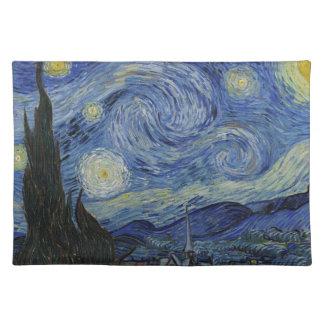 Vincent van Gogh - sternenklare Nacht. Stofftischset