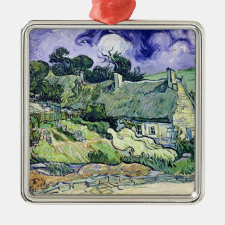 Vincent van Gogh   Thatched Hütten bei Cordeville Silbernes Ornament