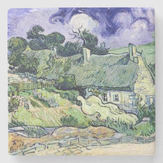 Vincent van Gogh | Thatched Hütten bei Cordeville Steinuntersetzer