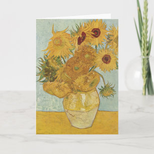 Vincent Van Gogh Sonnenblumen Karten Zazzleat