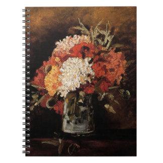 Vincent van Gogh - Vase mit Gartennelken - schöne Notizblock