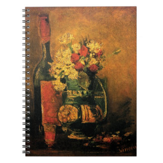 Vincent van Gogh - Vase mit Gartennelken-schöner Spiral Notizblock