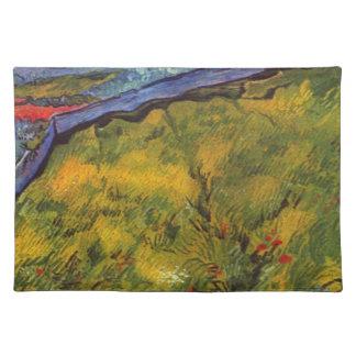 Vincent van Gogh-Weizen-Feld mit aufgehende Sonne Stofftischset