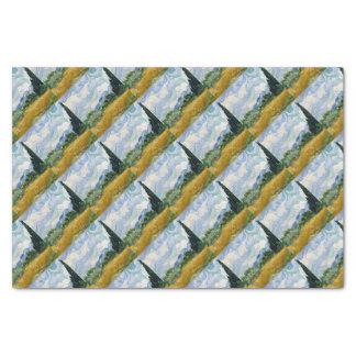 Vincent van Gogh-Weizen-Feld mit Zypressen-Kunst Seidenpapier