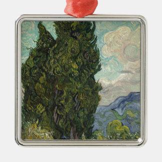 Vincent van Gogh - Zypressen-Malen Silbernes Ornament