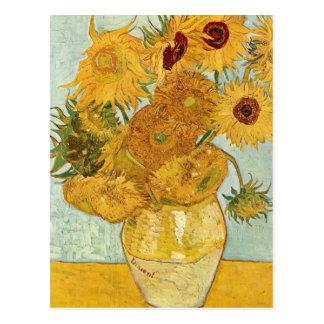 Vincent van Goghs Still-Leben MIT 12 Sonnenblumen Postkarte