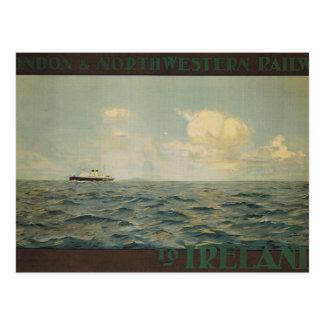 Vintag, Dampfer in Meer Postkarte