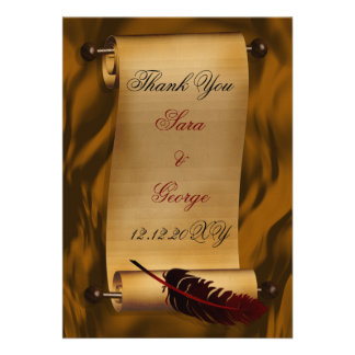 Vintag danke zu kardieren personalisierte ankündigungskarte