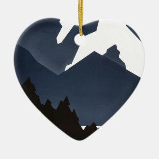 Vintag-Reise-Plakat-Montana-Amerika-USA Keramik Ornament