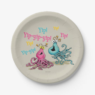 Vintag Yip-Yips Pappteller 17,8 Cm