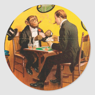 Vintag: Zirkus Barnum u. Bailey - Runder Aufkleber