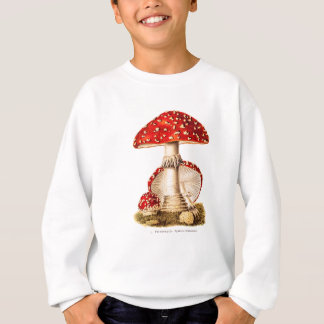Vintage 1800s Pilz-Rot-Pilz-Schablone Sweatshirt