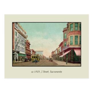 Vintage 1905 J-Straße, Sacramento, cal Postkarte