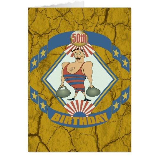 Vintage 50. Geburtstags-Party Einladungen Grußkarte