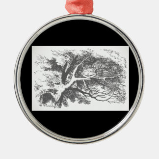 Vintage Alice im Rundes Silberfarbenes Ornament