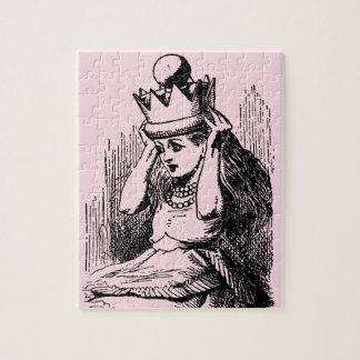 Vintage Alice im Wunderland, Alice als die Königin Puzzle